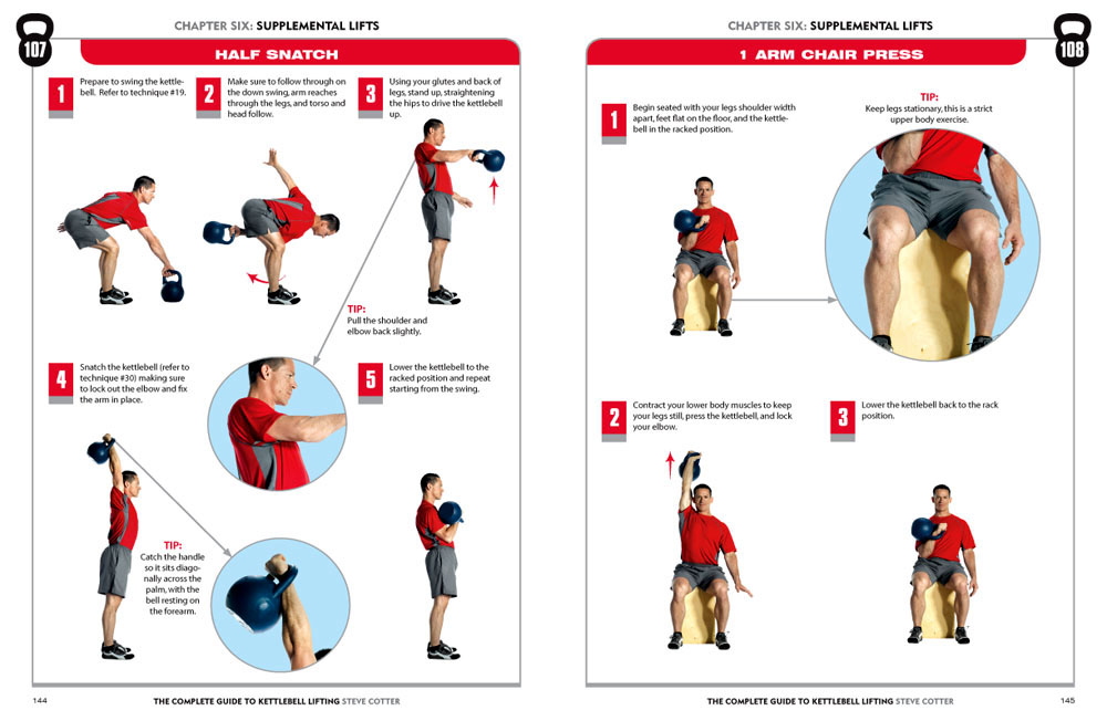 Digital Spread Of The Complete Guide To Kettlebell Lifting Book